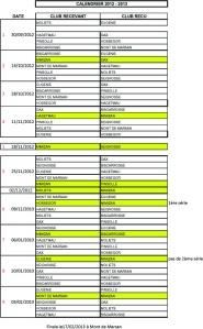 calendrier championnat des Landes